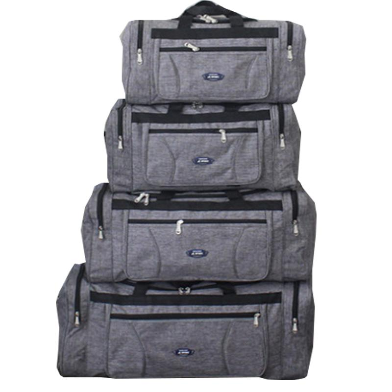 Plus Size Large Capacity Business Travel Oxford Cloth Waterproof Hand Luggage Big Bag Male Folding Weekend Duffle Travel Bag CX200718