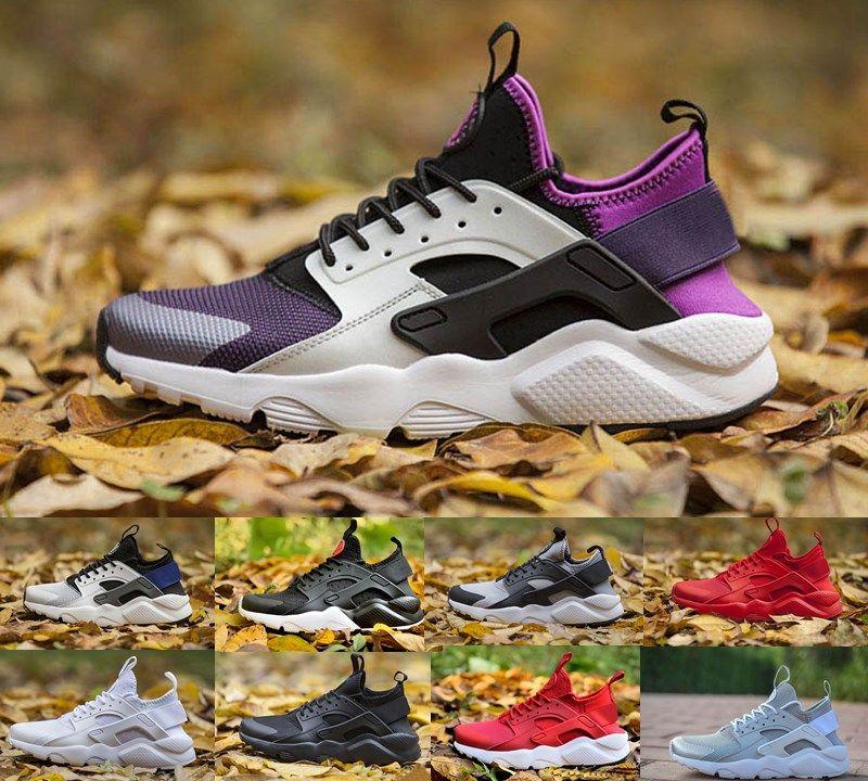 Satış Moda Huarache IV 4.0 Ultra Açık Ayakkabı Huaraches Eğitmenler Erkek Kadın Sneakers Üçlü Beyaz Siyah Hurla Huraches Ayakkabı Boyutu 36-45