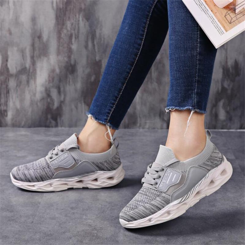Mesh traspirante pattini casuali delle donne della piattaforma signore comodo Sneakers alta miglioramento dell'integrazione delle donne Mocassini vulcanizzata Donna