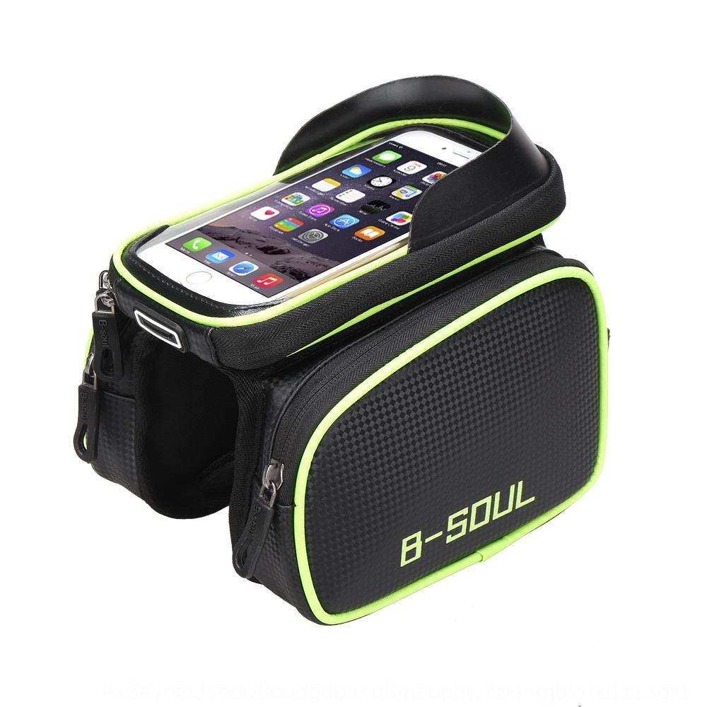 SOUL front beam waterproof mountain bike saddle Bicycle phone tube bag Mobile phone bag mobile bicycle cycling accessories cw8uR