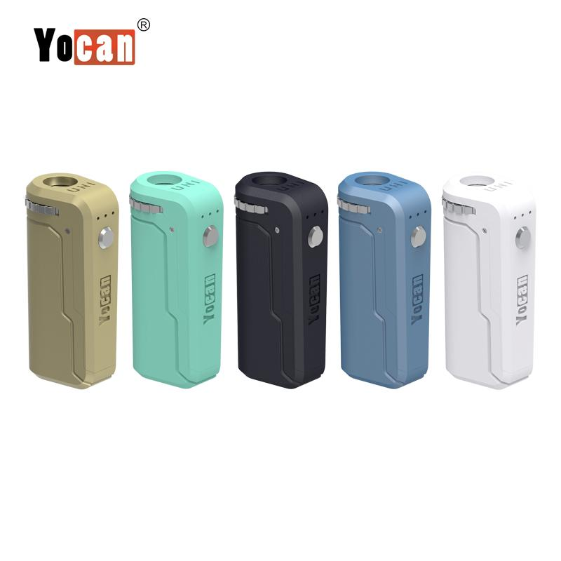 100% Original Yocan UNI Box Mod Adjustable Voltage And Preheat 650mah Battery Fit All vape cartirdges Thick Oil Carts In Stock