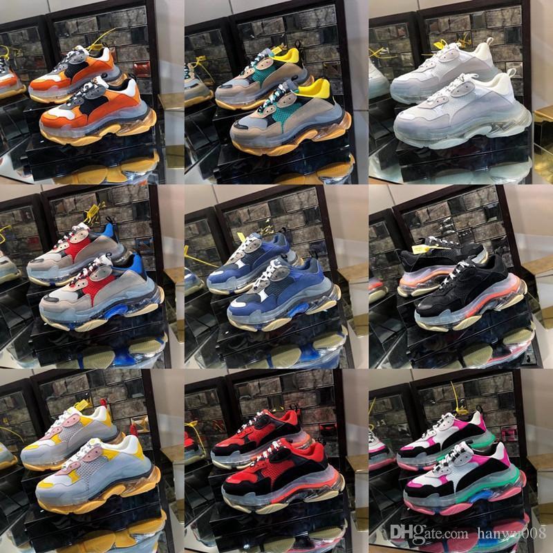 2019 Designer calçados casuais Mulheres Homens Sneakers Skateboarding Shoes Moda Corrida de Luxo Formadores Andar Plataforma moda 16819050802