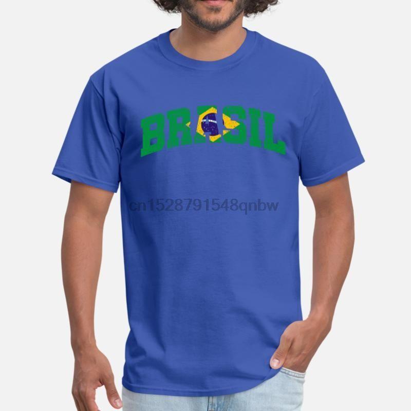 Drapeau adaption Brésil T-shirt 100% coton O col impressionnant Hommes T-shirt Big taille L XL 2XL 3XL Homme T-Tops (1)