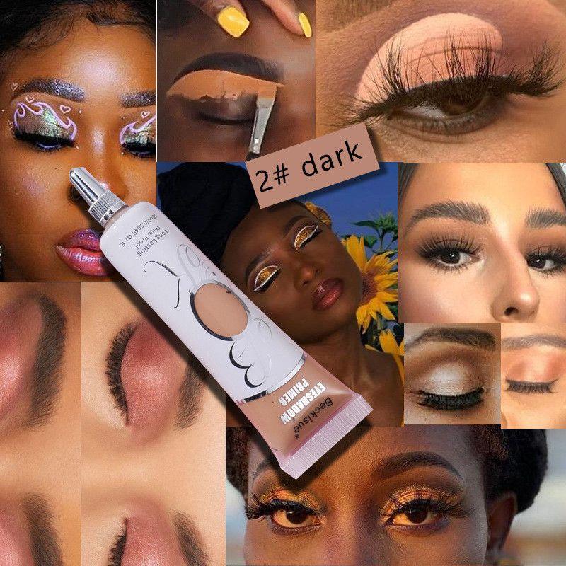 6 couleurs EYESHADOW Primer cosmétiques pour les yeux fard à paupières Primaire Maquillage base Long Lasting Crème liquide imperméable à l'eau