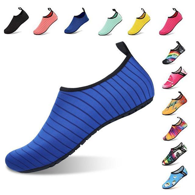 Pas cher en amont BUFEIPAI Chaussures eau pour Femmes et Hommes Chaussures d'été aux pieds nus rapides Chaussettes Aqua Dry pour la plage de natation Yoga exercice