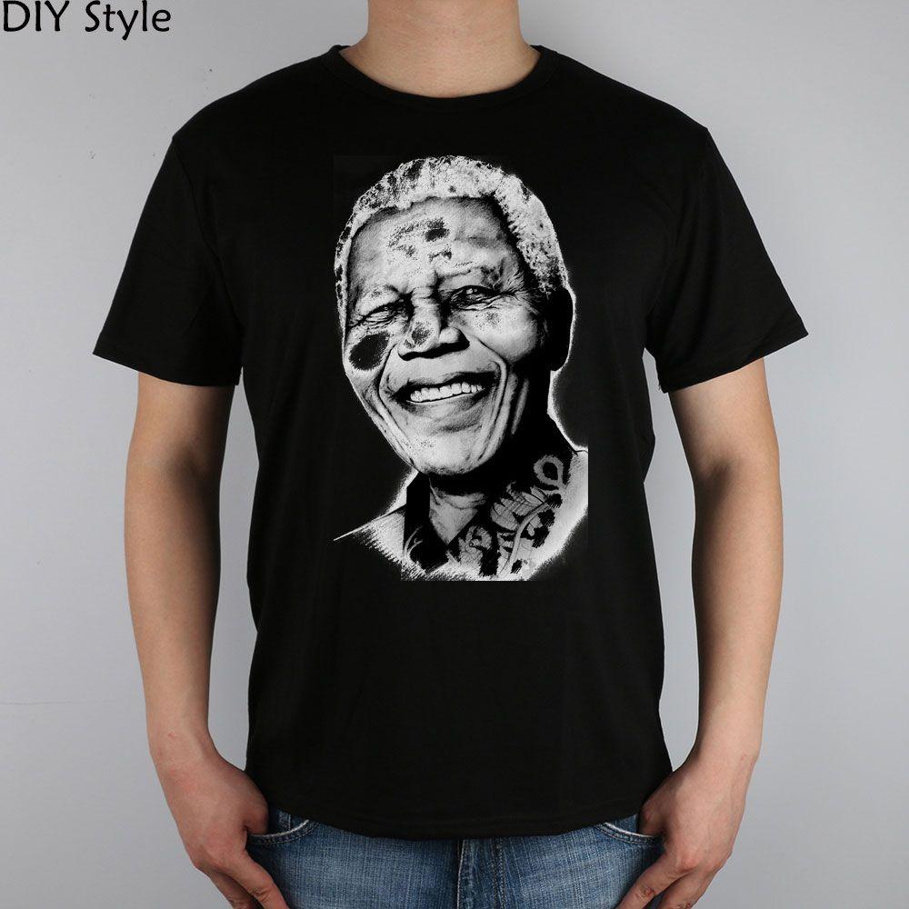 MANDELA tişört pamuk Likra üst Moda Marka t gömlek erkekler yeni yüksek kaliteli