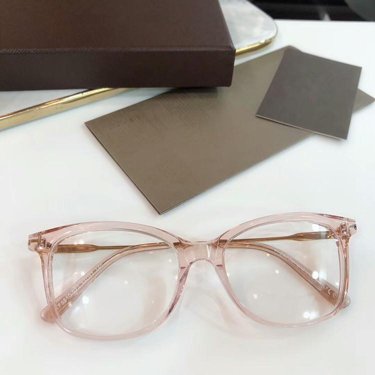 2020 الأحدث FT5510 موجزة ل norble الإناث خفيفة أزياء إطار نظارات تصميم المستوردة ايطاليا-لوح كامل مجموعة حدة الجملة freeshipping