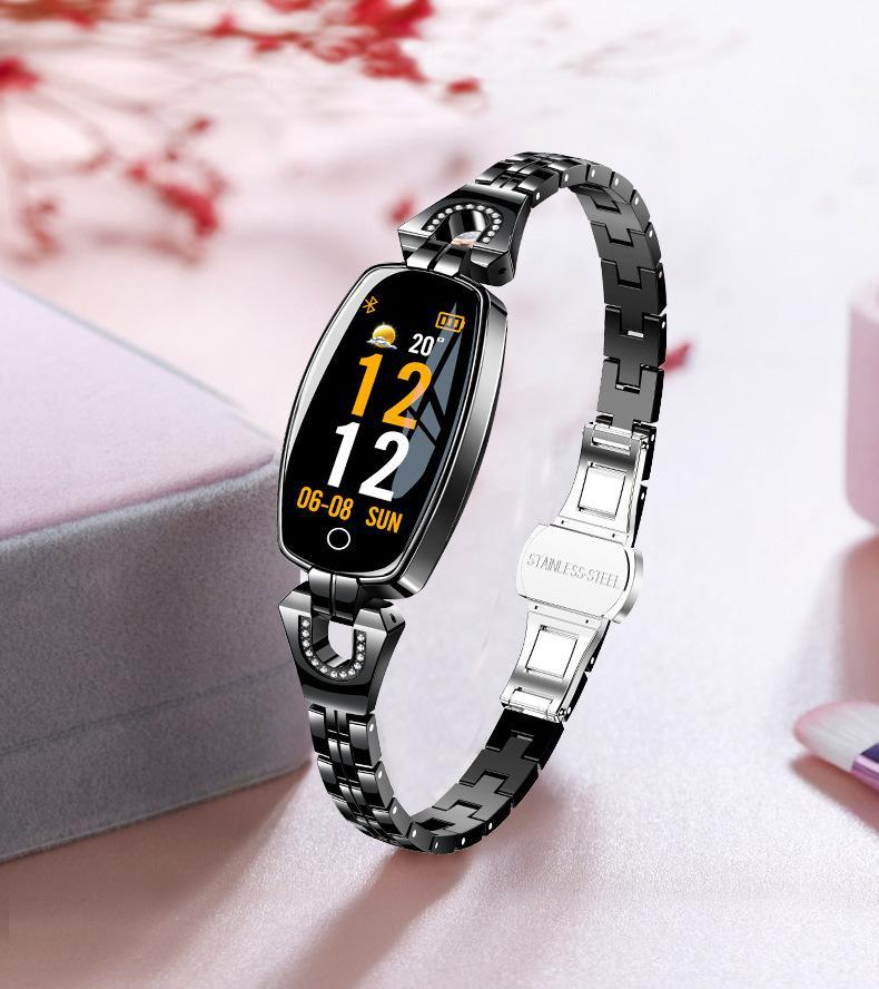 Estilo 3 reloj inteligente H8 TOP inteligente los hombres del reloj táctil completa rastreador de ejercicios de Salud del inspector Mujeres inteligentes pulsera de alerta disponibles