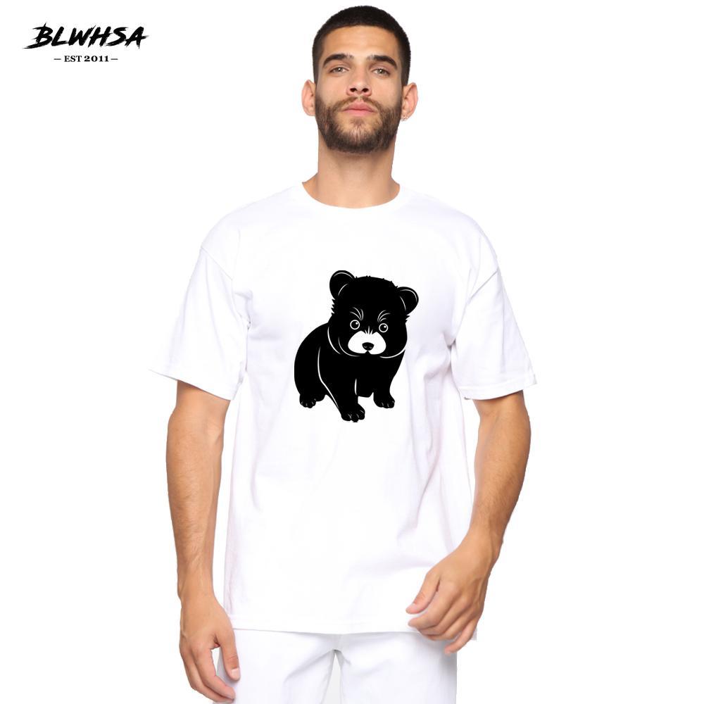BLWHSH Cute Puppy Stampa T shirt da uomo Fashion Casual manica corta divertente T-shirt Cute Puppy Stampa di disegno degli uomini più Tops Abbigliamento