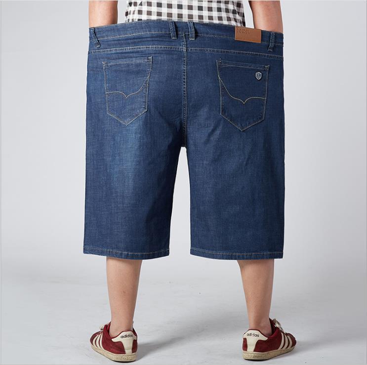 Одежда мужская Плюс Размер Демин шорты Человек Негабаритные Свет Омывается Лоскутная Сыпучие Мода Короткие Мужчины Casual