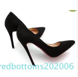 Kostenloser Versand So Kate Styles-Absatz-Schuhe Red blau Wildleder Spitzschuh Hochzeit Schuhe große Größe 34-44 r06