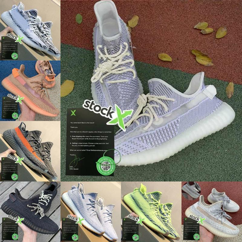 Os sapatos New2020 estática Reflective Homens runnning Sneakers Mulheres Sports Trainers Racer verdadeira forma argila Gid Sneakers 3M Superfície 36-46 Preto vermelho