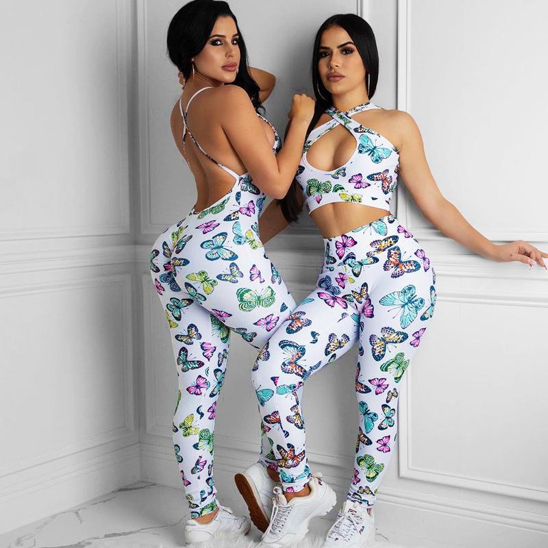 Yoga Kıyafetler Set Spor Takım Elbise Kadınlar Çalışan Esneklik Fitness Giysileri Egzersiz Giyim Spor Sutyen Tayt Siyah Spor Giyim