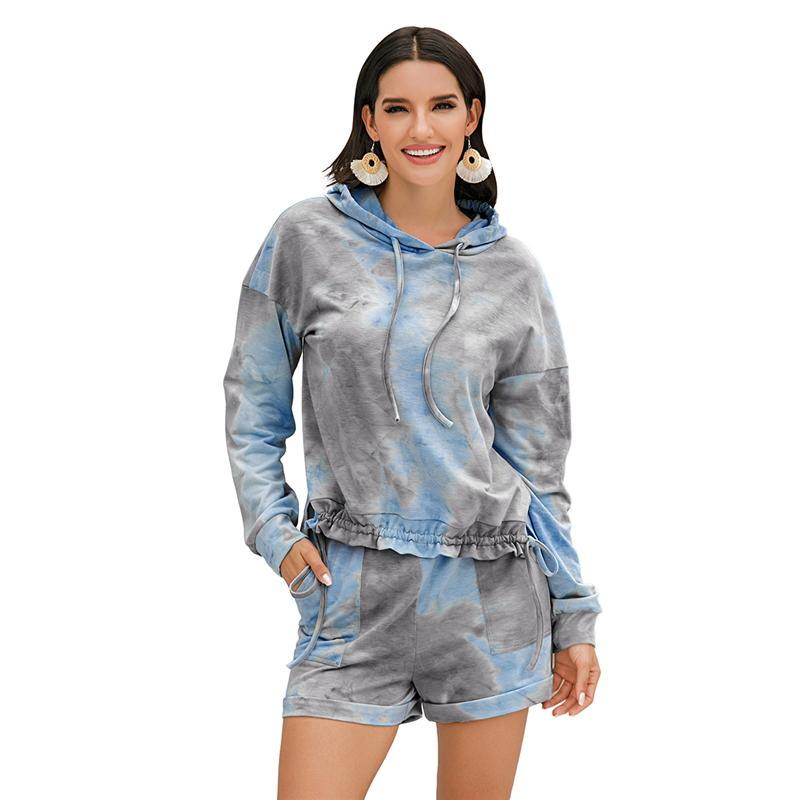 سابغة المرأة، 2 قطعة مثير ملابس رياضية مجموعة للمحاصيل النساء اللون طويل الأكمام بلايز + اللون فضفاض عارضة السراويل رياضية مجموعة 3colors الشحن