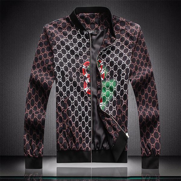 Chaqueta de la cremallera del patrón animal de la letra 2020 Diseñador jacketNew marca de diseño G de la chaqueta rompevientos hombres de manga larga de