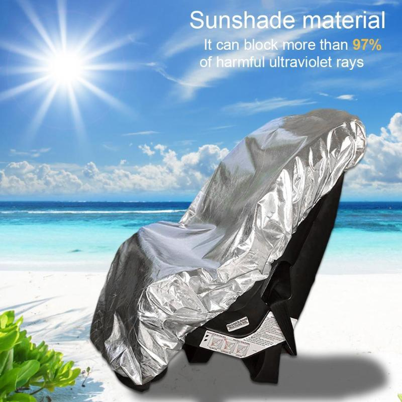 Light Baby Car Seat Sun Shade Cover For Child Kids Infant Auto Safety Seat Stroller Aluminium Film Sunshade Dust UV Protector