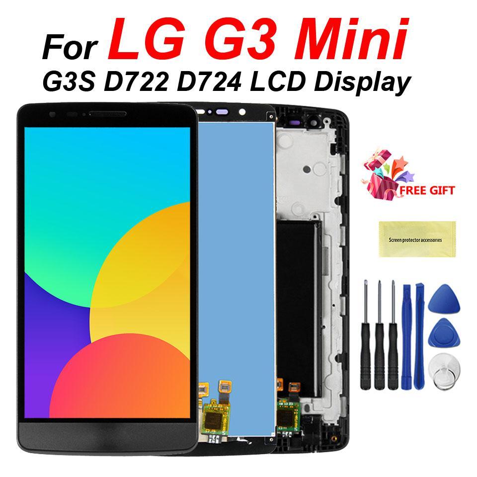 100% Teste de 5.0 polegadas para LG G3 Mini Display LCD Touch Screen digitador com substituição do quadro por LG G3S D722 D724 exibição