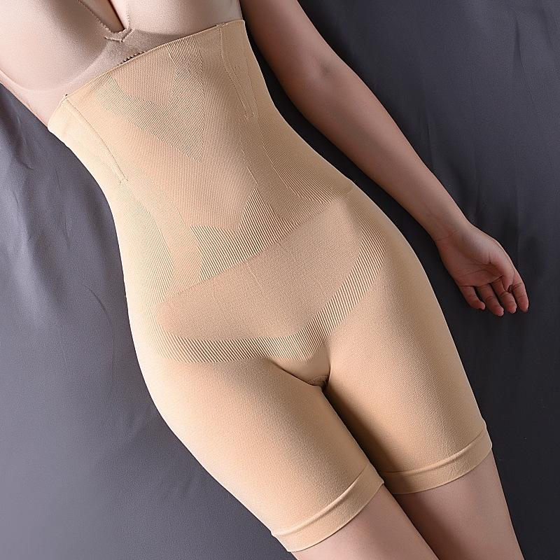 vFrmX de alta cintura sin costuras Fu Shou ku postparto de maternidad Fu Shou ku mujeres cuerpo boxeador L bragas de cintura alta esculpir forma los pantalones que dan forma p