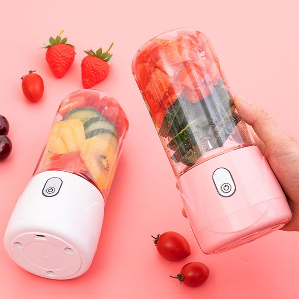 مصغرة usb القابلة لإعادة الشحن المحمولة عصارة الفاكهة الخضار خلاط الجليد عصير صانع آلة خلاط كهربائية عصير كوب مع غطاء