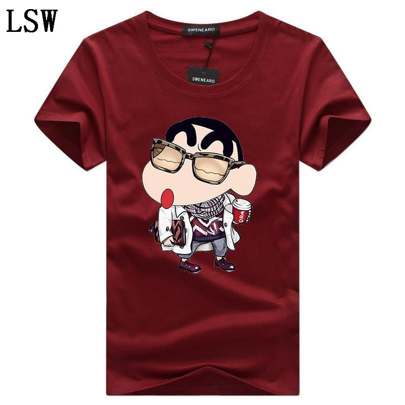 Été O col T-Shirt Men Plus Size 5xl Marque imprimé de haute qualité à manches courtes Chemises 5XL T-shirt décontracté coton C-5