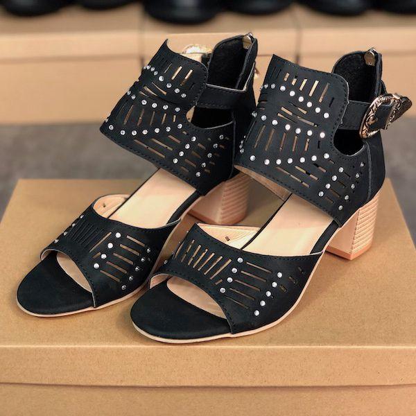 Kutu C13 ile Kristal Moda Seksi Bayanlar Partisi Düğün Ayakkabıları Yumuşak Patent Deri Rahat Sole ile 2020 Kadınlar Deri Sandal Chunky Topuk