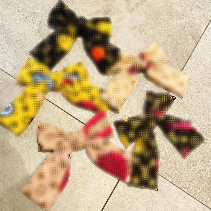 Retro Bow Spring Clip Satin Designer Hair Clip Temperament Side Clip Presbyopia Printed Hair Clips Women Brand Barrettes