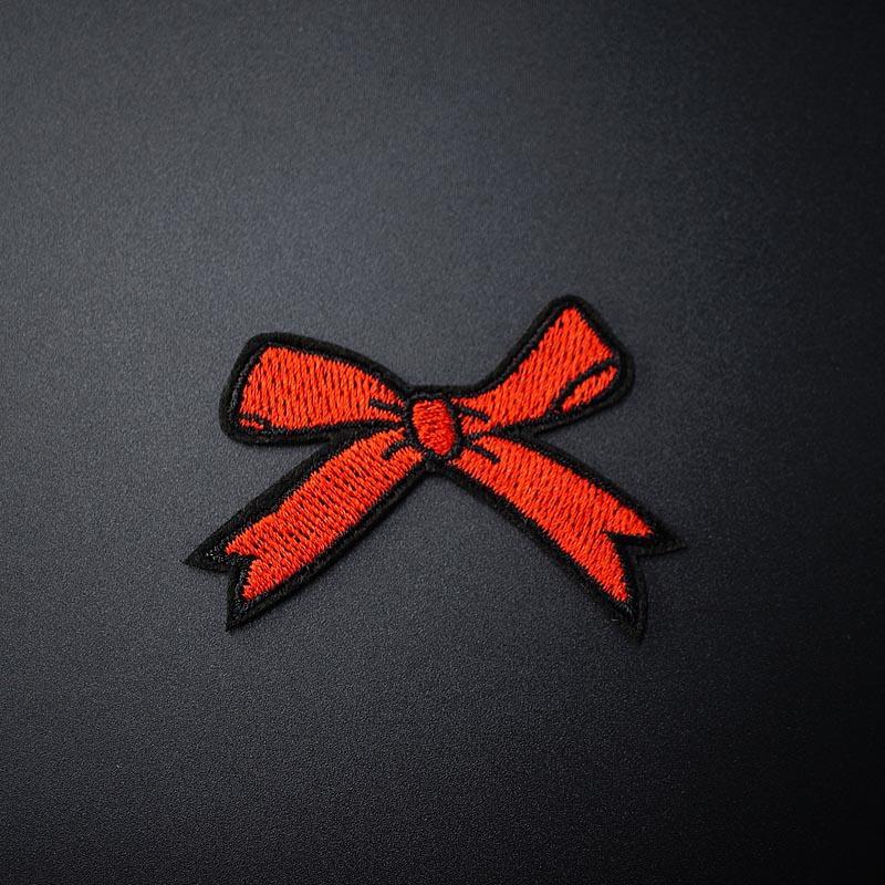 Taille Bow: 4.0x5.5cm Iron Patch couture sur brodé couture Vêtements Applique Autocollants vêtements Vêtements Accessoires Patchs