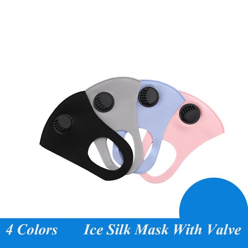 Маска для лица Anti-Dust с ушной дыхательный клапан многоразовый Mouth Маски мягкие дышащие анти пыли Защитные маски хорошее качество
