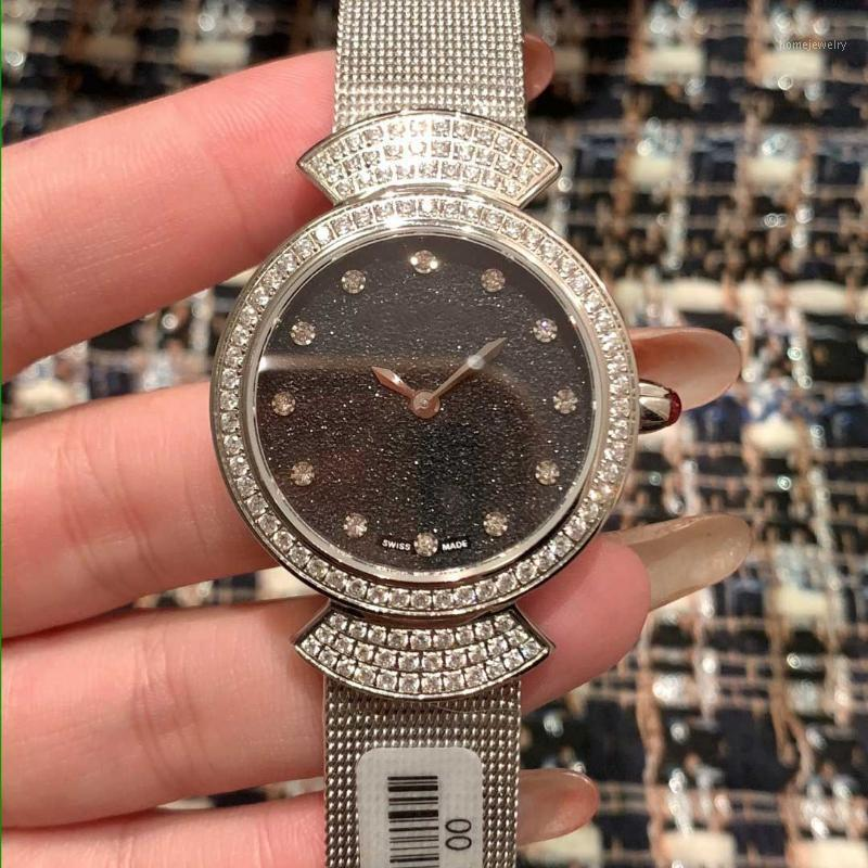 Mulheres Designer Relógios Moda Diamond clássico relógio de pulso 33MM 316 Stainless Steel Assista New Lady Watches1