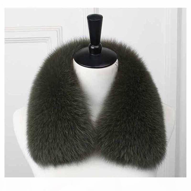 Ceket Büyük Kürk Hood Trim Ms.MinShu için Erkekler Orijinal Fox Kürk Yaka% 100 Doğal Fox Kürk Yaka