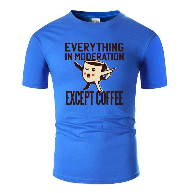 Imprimé sur mesure sauf le café T-shirt graphique O-Neck Comical T-shirts Big taille 3XL 4XL 5XL Camisetas Hiphop Tops
