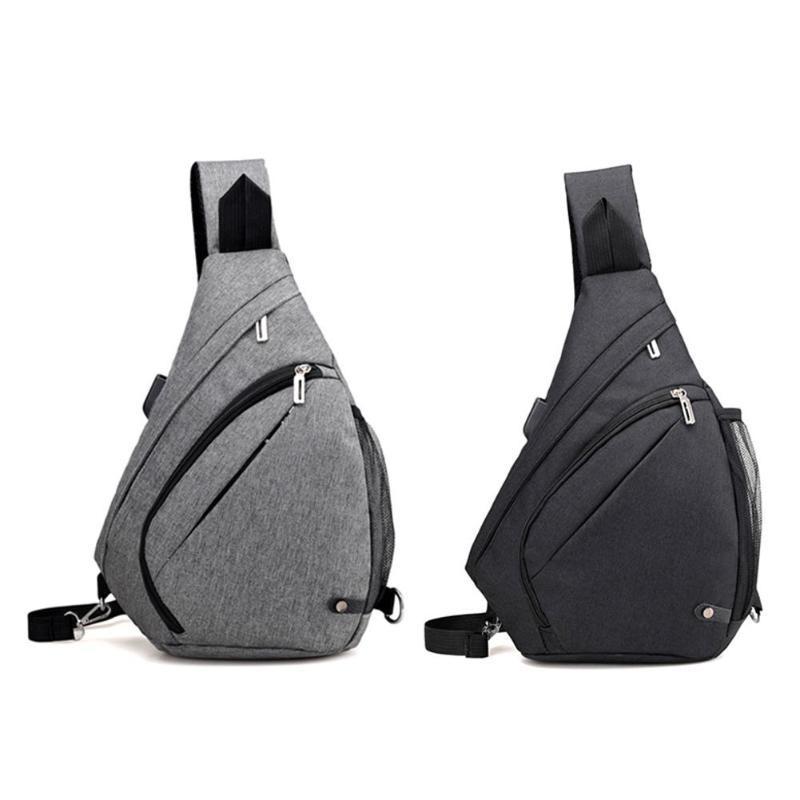 Designer- charge USB Hommes Femmes Messenger Bag Anti-vol poitrine Sac à Sling épaule Satchel Sacs à bandoulière Casual Sacs homme Voyage