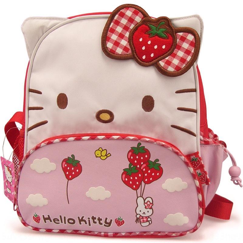 Симпатичный мультфильм детского сада Schoolbag ткань Оксфорд сумка backpackstrawberry лук кошка рюкзак утолщенной ткани Оксфорд девушка рюкзак