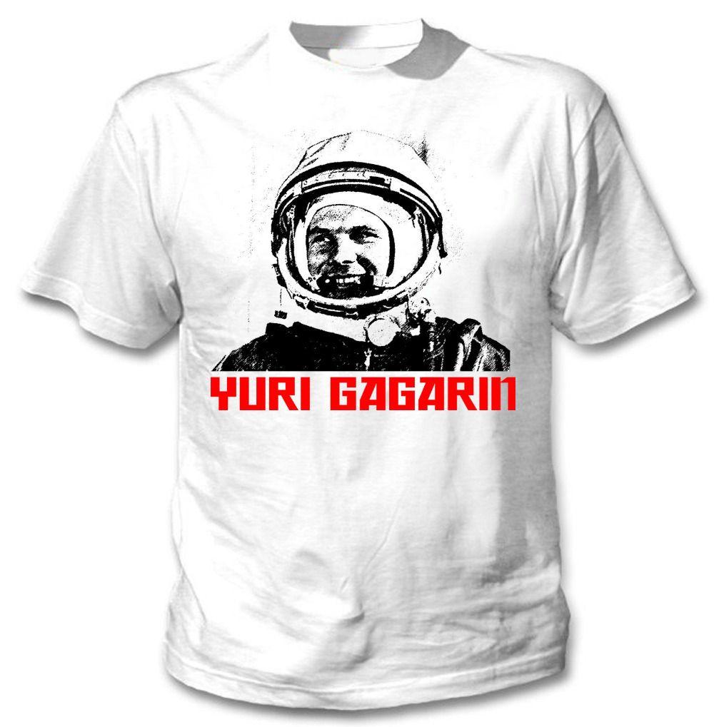 Yuri Gagarin RUSSIAN neue Art und Weise Mann-T-Shirt aus Baumwolle O Ansatz der Männer Kurzarm Herren T-Shirt Male Tops Tees Großhandel