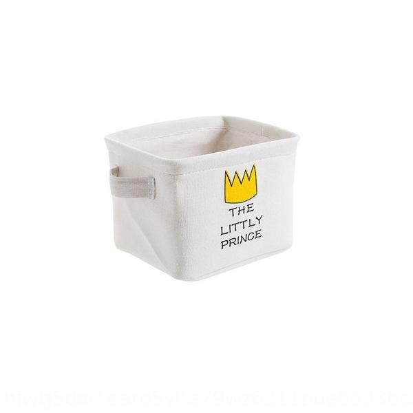 Cartoon tissu taille basse panier boîte de rangement de jouets domestique boîte à jouets cuisine bureau snack panier de stockage