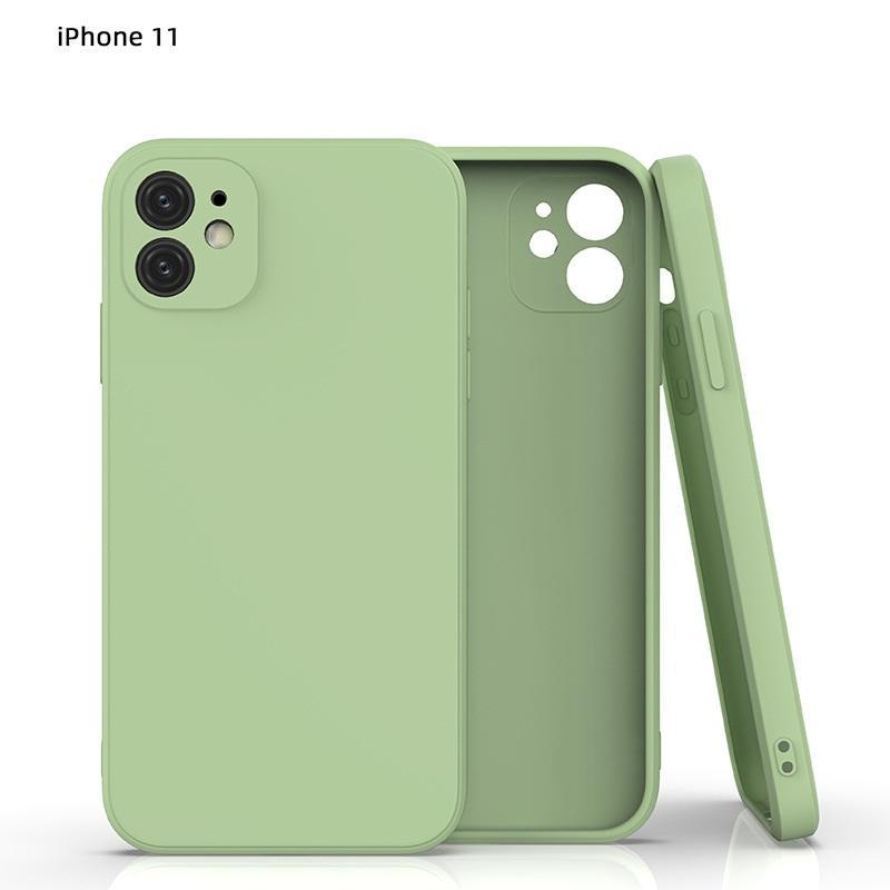 Caso de silicone líquido para iPhone 11 Pro Max Matte Capa de volta macia Casos de moda com pacote OPP