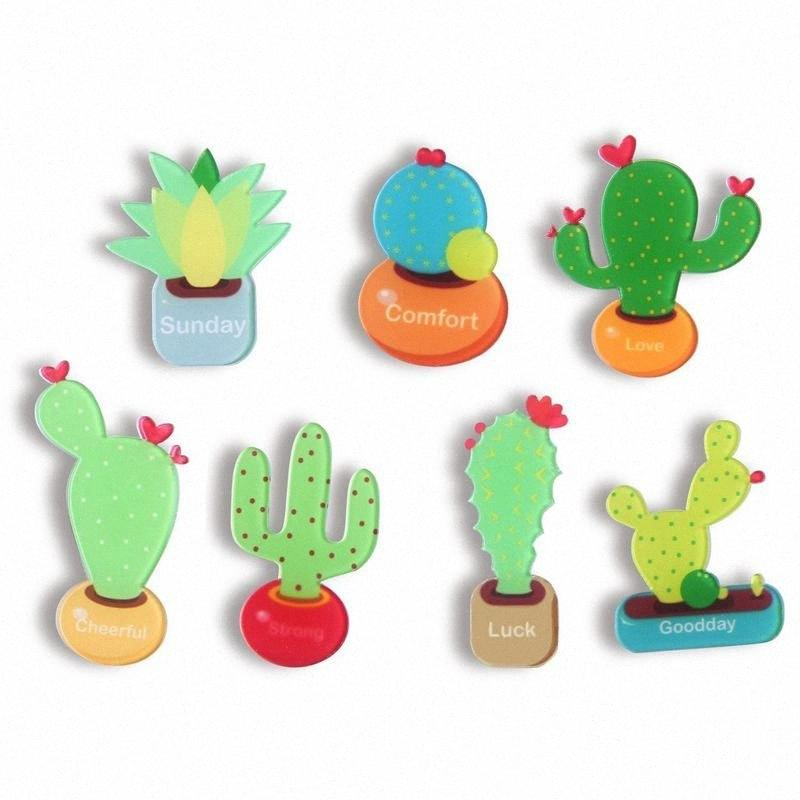 Kaktüs Mıknatıslar Buzdolabı Mıknatıs dolabı Magnet Cactus Mutfak Mıknatıslar Eğlenceli Dekoratif Sevimli Sulu 9qXG #