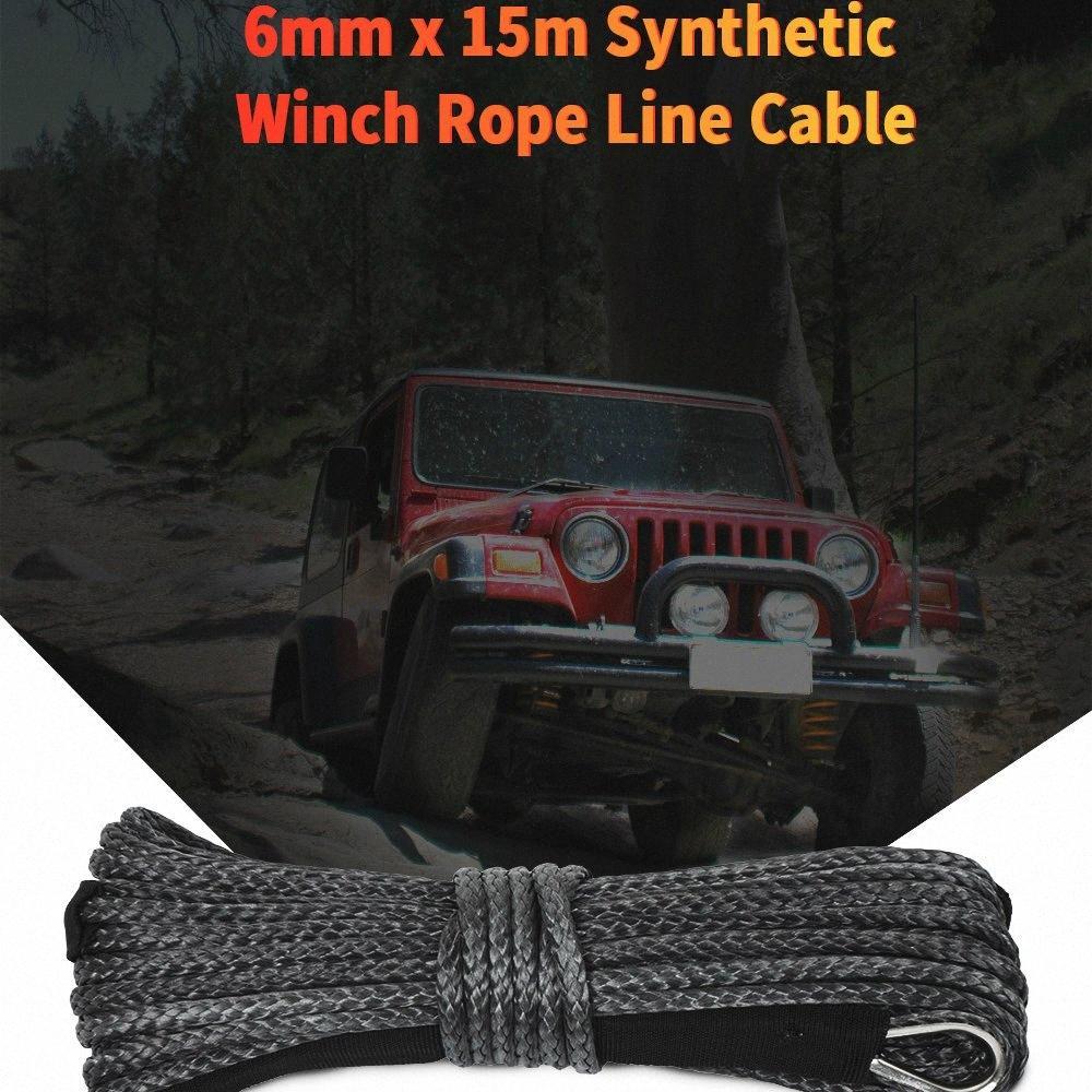 Universal 5 mm x 15m voiture de remorquage Cordes nylon Corde treuil de remorquage Câble Lumière Minimal Non extensible Rotation pour la plupart des voitures 7OCH #