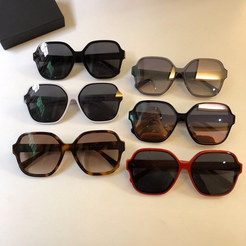 5580 mujeres Lentes de sol grandes del marco cuadrado de metal-anteojos con encanto anti-UV400 gafas de lentes de ocio con estilo elegante