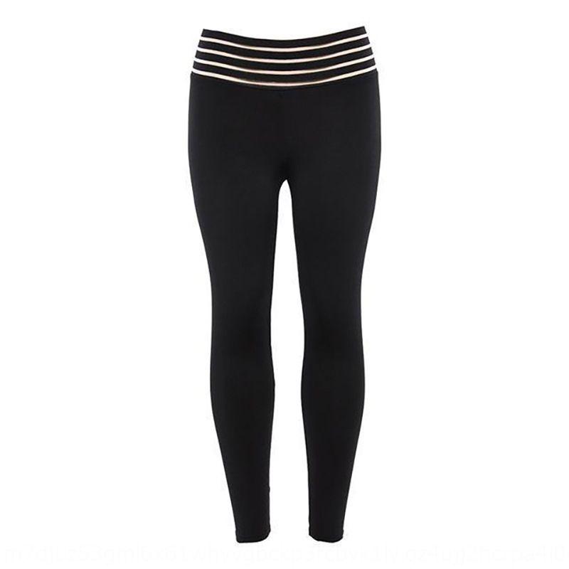 taille pantalon de pratique serré hip yoga ZZokx pantalons de yoga serrés élastiques squat taille haute à rayures