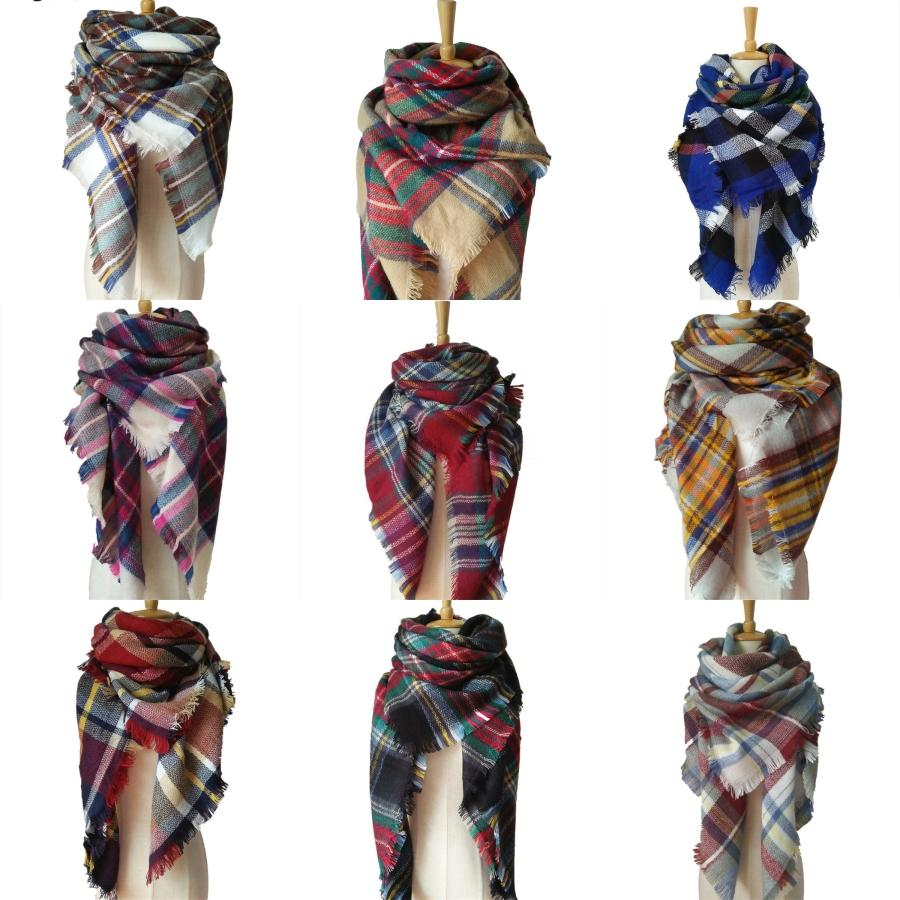Girls Lovely Flowers Scarf Fashion All-Match Warm Knitted 130*20CM Korean Style Winter Colorful Jacquard Decoration Scarf#492