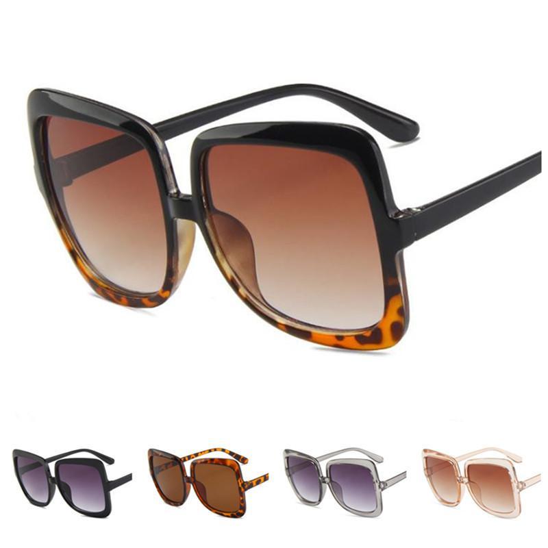 Moda Personalità Donne Occhiali da sole ++ Oversize Un sole Anti-UV Occhiali da vista Occhiali Cornice Eyewear Adumbral Ornamental Square Spettacoli NTWQT