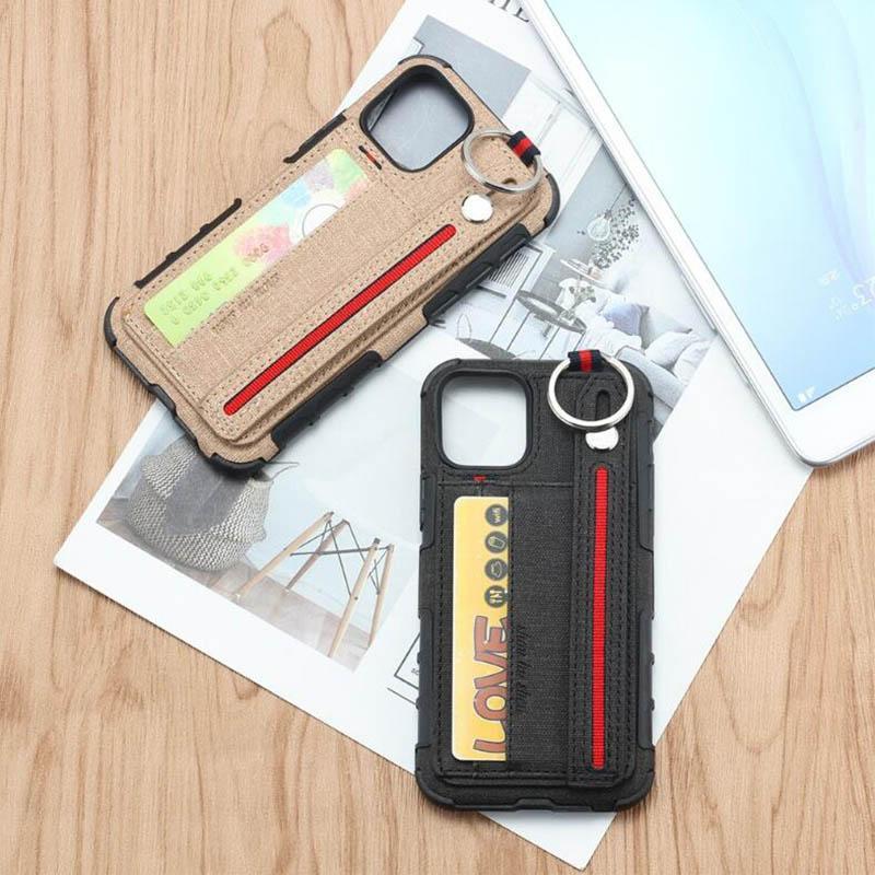 아이폰 11promax 11pro 11 xsmax XR XS X 8P 8 6S 6sp 브라켓 밴드 휴대폰 케이스, 플러그 인 카드가 걸려 허리 다기능 표지