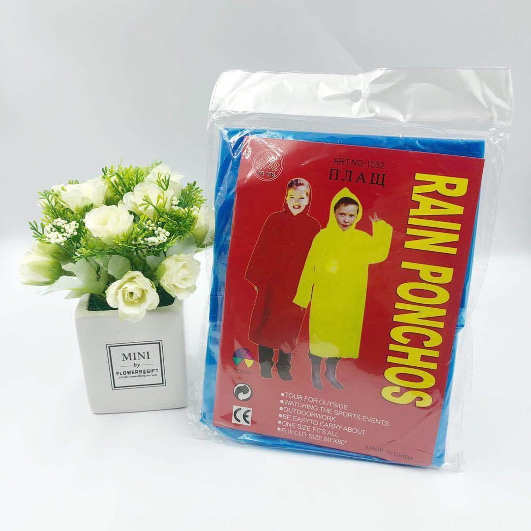 No desechable ropa impermeable lluvia engrosamiento de ropa de la lluvia de los niños refrescan nuevo material fresco impermeable disponible para la Infancia