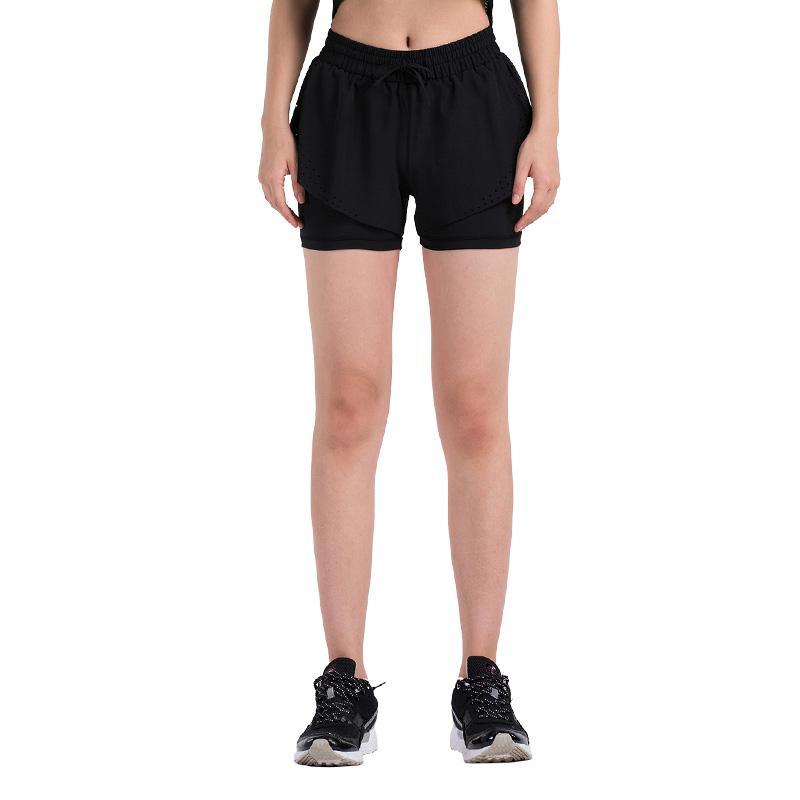 2020 Летних женщины Бег Шорты Фитнес Йога Спортивной женщина Упругие талии Обучение беговые брюки Днище