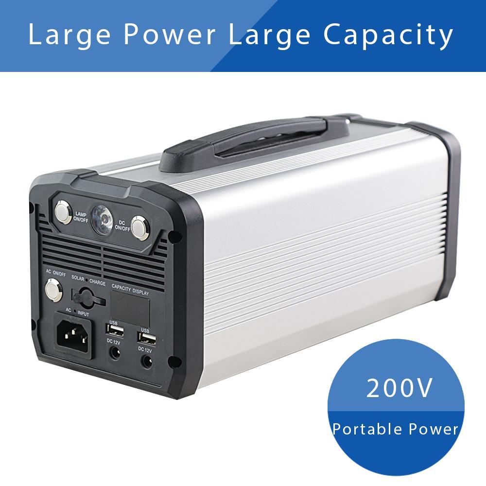 Portable Power Station Generator 12V 222Wh Emergency Bank Supply for220V/110V 12V5V OutputOutdoor Camping