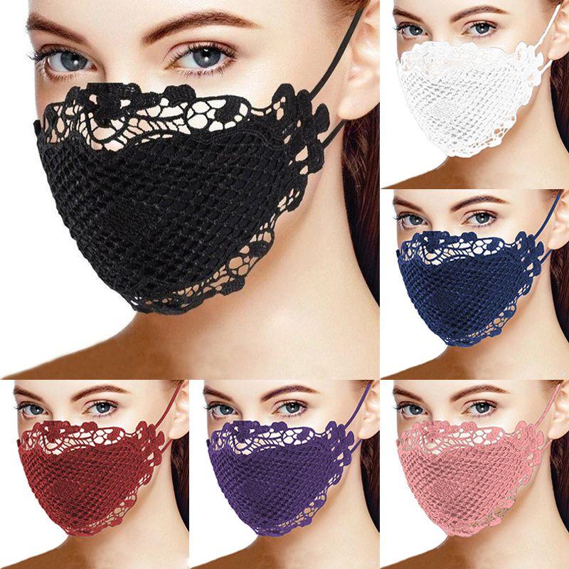 سيدة الموضة أقنعة الوجه مع قناع القطن الرباط أقنعة الوجه الكبار سيدة الغبار يمكن غسلها وإعادة الاستخدام 6 ألوان XD23778