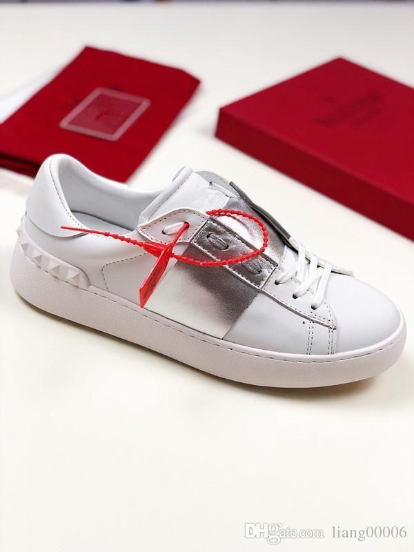 Nova moda Ace Sapatilha com sapatos de plataforma cristais mulheres designer de couro verdadeiro luxo sapatos femininos com abelha bordados amou ml190703