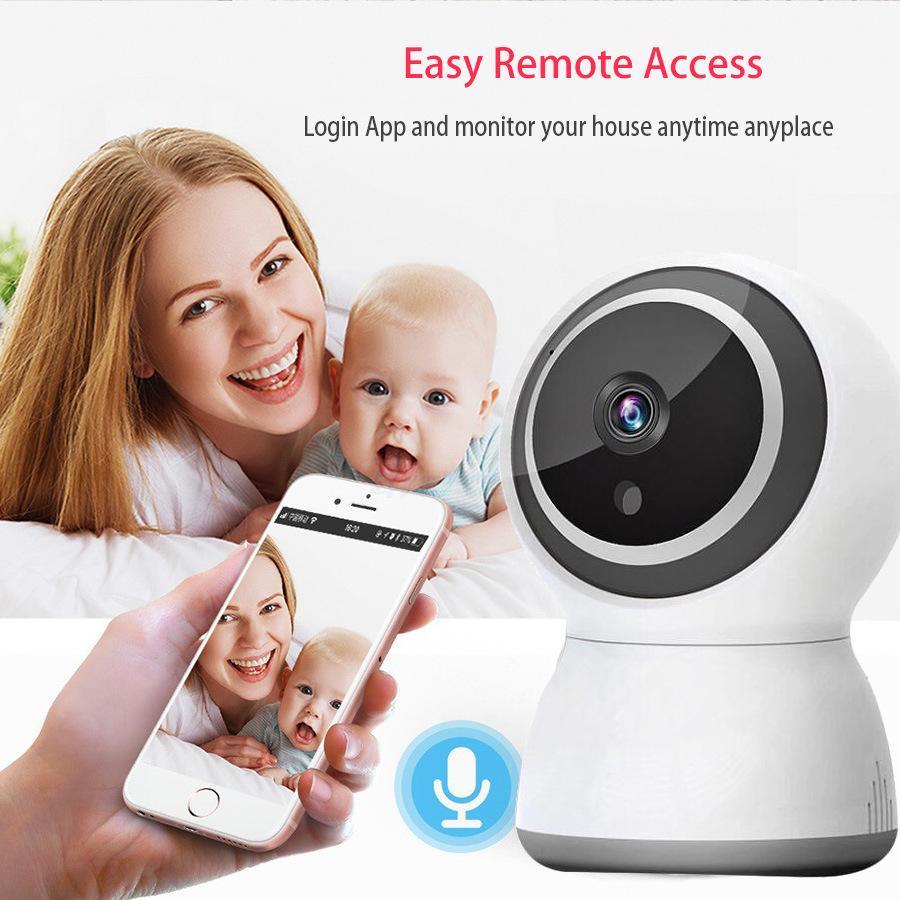 WIFI cámara inteligente 2 millones 1080P cabeza de vigilancia diurna y nocturna de doble propósito multifunción inalámbrica cámara-