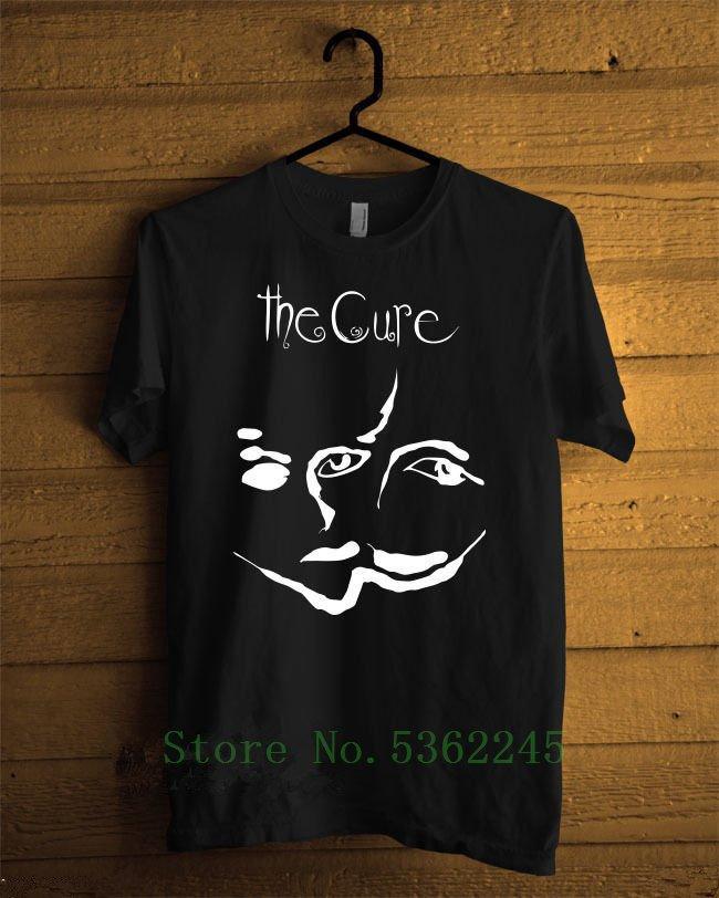 Camisas Casual on-line The Cure Inglês de Rock faixa do costume de manga curta O-Neck camiseta shirt T-shirt T Camiseta